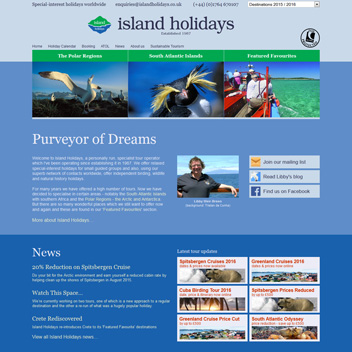 Island Holidays Website