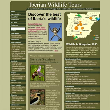 Iberian Wildlife Tours Website