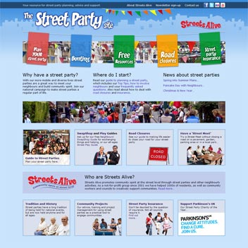 Street Party Website